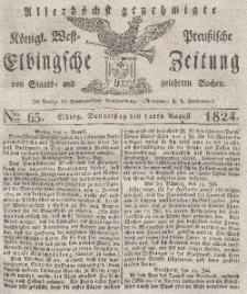 Elbingsche Zeitung, No. 65 Donnerstag, 12 August 1824