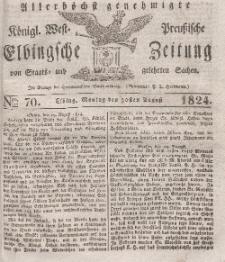 Elbingsche Zeitung, No. 70 Montag, 30 August 1824