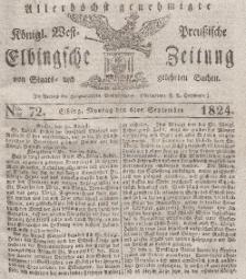 Elbingsche Zeitung, No. 72 Montag, 6 September 1824