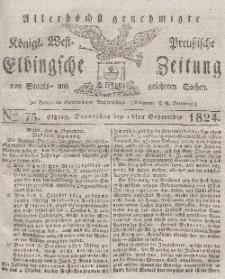 Elbingsche Zeitung, No. 75 Donnerstag, 16 September 1824