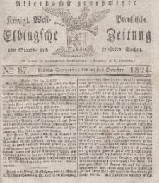 Elbingsche Zeitung, No. 87 Donnerstag, 28 Oktober 1824
