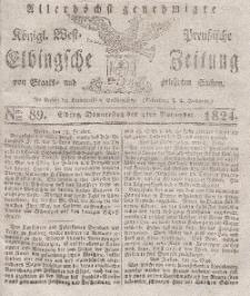 Elbingsche Zeitung, No. 89 Donnerstag, 4 November 1824