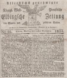 Elbingsche Zeitung, No. 94 Montag, 22 November 1824