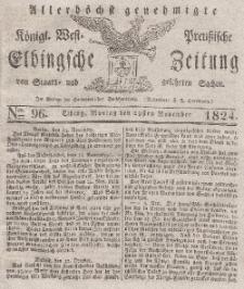 Elbingsche Zeitung, No. 96 Montag, 29 November 1824