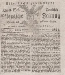 Elbingsche Zeitung, No. 103 Donnerstag, 23 Dezember 1824