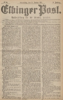 Elbinger Post, Nr.8 Donnerstag 11 Januar 1877, 4 Jh
