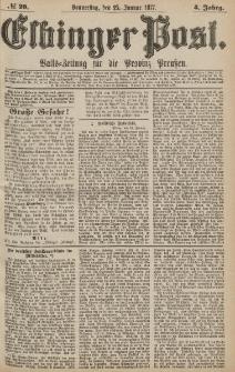Elbinger Post, Nr.20 Donnerstag 25 Januar 1877, 4 Jh