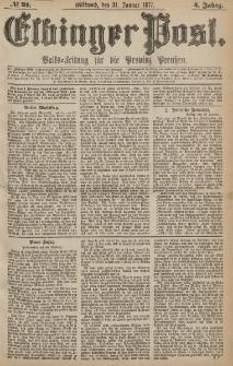 Elbinger Post, Nr.25 Mittwoch 31 Januar 1877, 4 Jh
