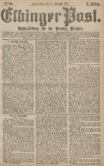 Elbinger Post, Nr.32 Donnerstag 8 Februar 1877, 4 Jh
