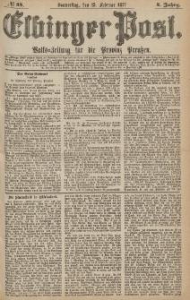Elbinger Post, Nr.38 Donnerstag 15 Februar 1877, 4 Jh