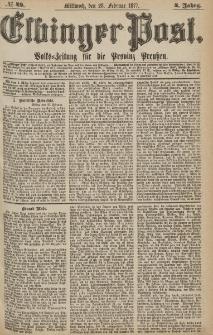 Elbinger Post, Nr.49 Mittwoch 28 Februar 1877, 4 Jh