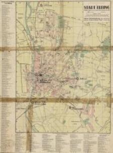 Pharus - Plan der Stadt Elbing