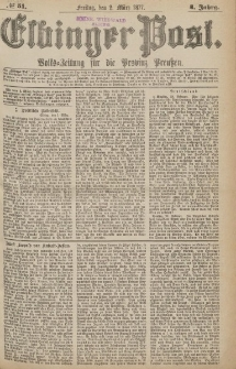 Elbinger Post, Nr.51 Freitag 2 März 1877, 4 Jh