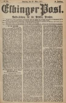 Elbinger Post, Nr.71 Sonntag 25 März 1877, 4 Jh