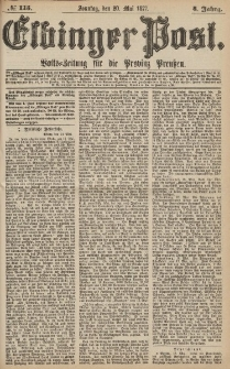 Elbinger Post, Nr.115 Sonntag 20 Mai 1877, 4 Jh