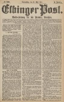Elbinger Post, Nr.123 Donnerstag 31 Mai 1877, 4 Jh
