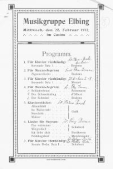 Musikgruppe Elbing (28.II.1912)
