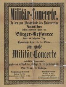 Militär-Konzerte : In den zum Maskenballe des Rudervereins Nautilus