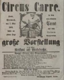 Circus Carre (7.V.1862)