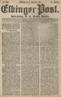 Elbinger Post, Nr.206 Mittwoch 5 September 1877, 4 Jh
