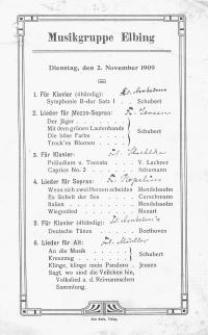 Musikgruppe Elbing (2.XI.1909)