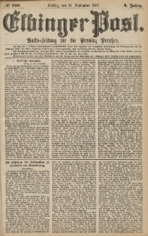 Elbinger Post, Nr.220 Freitag 21 September 1877, 4 Jh
