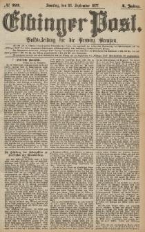 Elbinger Post, Nr.222 Sonntag 23 September 1877, 4 Jh