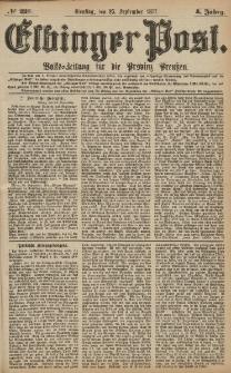 Elbinger Post, Nr.223 Dienstag 25 September 1877, 4 Jh