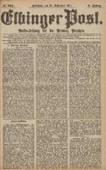 Elbinger Post, Nr.224 Mittwoch 26 September 1877, 4 Jh