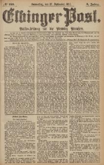 Elbinger Post, Nr.225 Donnerstag 27 September 1877, 4 Jh