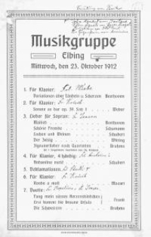 Musikgruppe Elbing (23.X.1912)