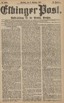 Elbinger Post, Nr.235 Dienstag 9 Oktober 1877, 4 Jh