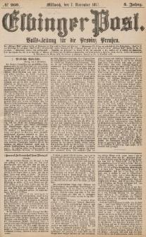 Elbinger Post, Nr.260 Mittwoch 7 November 1877, 4 Jh