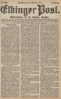 Elbinger Post, Nr.269 Sonnabend 17 November 1877, 4 Jh