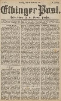 Elbinger Post, Nr.271 Dienstag 20 November 1877, 4 Jh