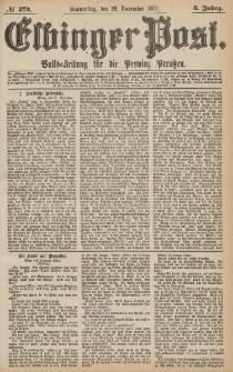 Elbinger Post, Nr.273 Donnerstag 22 November 1877, 4 Jh