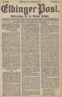Elbinger Post, Nr.284 Mittwoch 5 Dezember 1877, 4 Jh