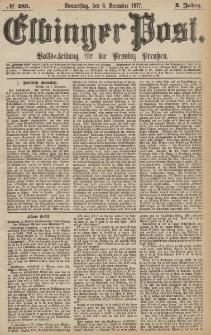 Elbinger Post, Nr.285 Donnerstag 6 Dezember 1877, 4 Jh