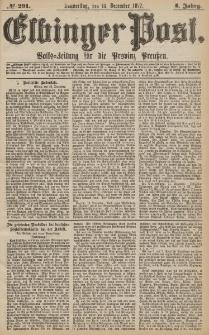Elbinger Post, Nr.291 Donnerstag 13 Dezember 1877, 4 Jh