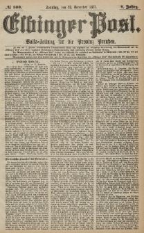 Elbinger Post, Nr.300 Sonntag 23 Dezember 1877, 4 Jh