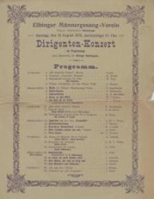 Dirigenten-Konzert in Vogelsang unter Mitwirkung der Elbinger Stadtkapelle