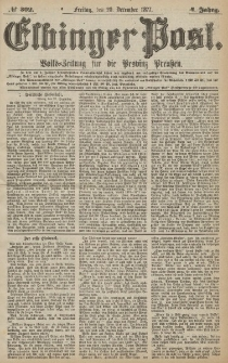Elbinger Post, Nr.302 Freitag 28 Dezember 1877, 4 Jh