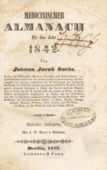 Medicinischer Almanach für das Jahr : 1842