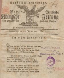 Elbingsche Zeitung, No. 1 Donnerstag, 2 Januar 1812