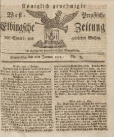 Elbingsche Zeitung, No. 3 Donnerstag, 9 Januar 1812