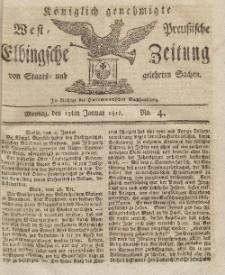 Elbingsche Zeitung, No. 4 Montag, 13 Januar 1812