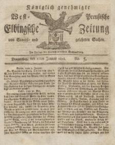 Elbingsche Zeitung, No. 5 Donnerstag, 16 Januar 1812
