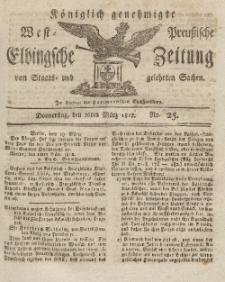 Elbingsche Zeitung, No. 25 Donnerstag, 26 März 1812