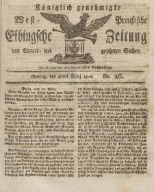 Elbingsche Zeitung, No. 26 Montag, 30 März 1812