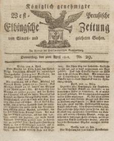 Elbingsche Zeitung, No. 29 Donnerstag, 9 April 1812